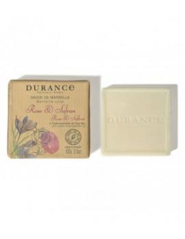 Durance Tuhé Marseillské mydlo Rose & Saffron (100g)
