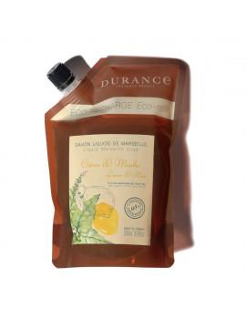 Durance Tekuté Marseillské mydlo Lime & Mint - Eco-náhradná náplň (500ml)