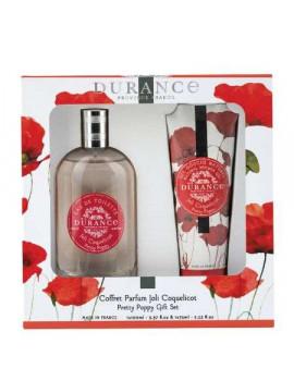 toáletná voda a sprchový gél Durance Pretty Poppy
