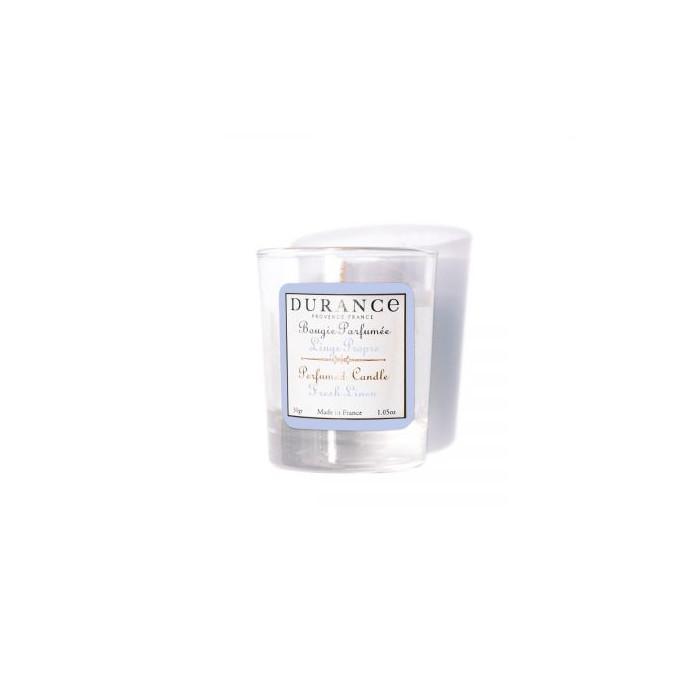 Durance Vonná sviečka Fresh Linen (30g)