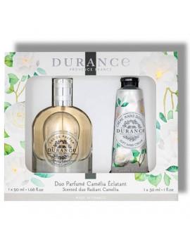 Darčekový set Durance parfemovaná voda a krém na ruky Radiant Camellia