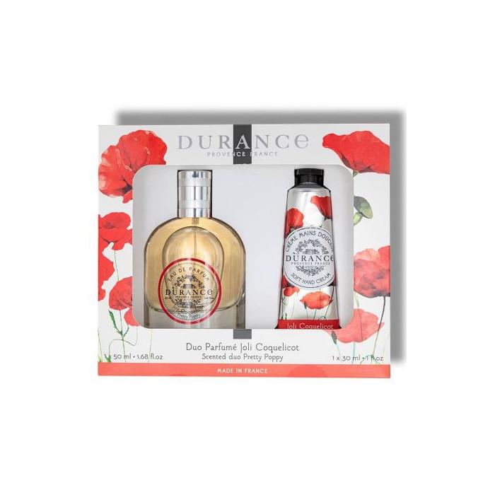 Durance parfémová voda a krém na ruky Pretty Poppy