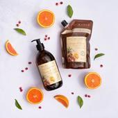 Mandarinka & granátové jablko - vôňa zmesi čerstvého ovocia predstavuje skutočný vitamínový kokteil, ktorý ponúka skutočný okamih potešenia. Tekuté marseillské mydlo na telo aj ruky vyrobené v Provensálsku s organickým olivovým olejom a extraktom z červenej ruže z Camargue 🧡.  #durance #madeinfrance #cosmetics #nature #bodycare